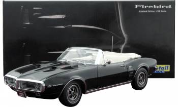 1967 Pontiac Firebird 400 Convertible Starlight Black w/ Parchment Interior (Lane Exact Detail) 1/18